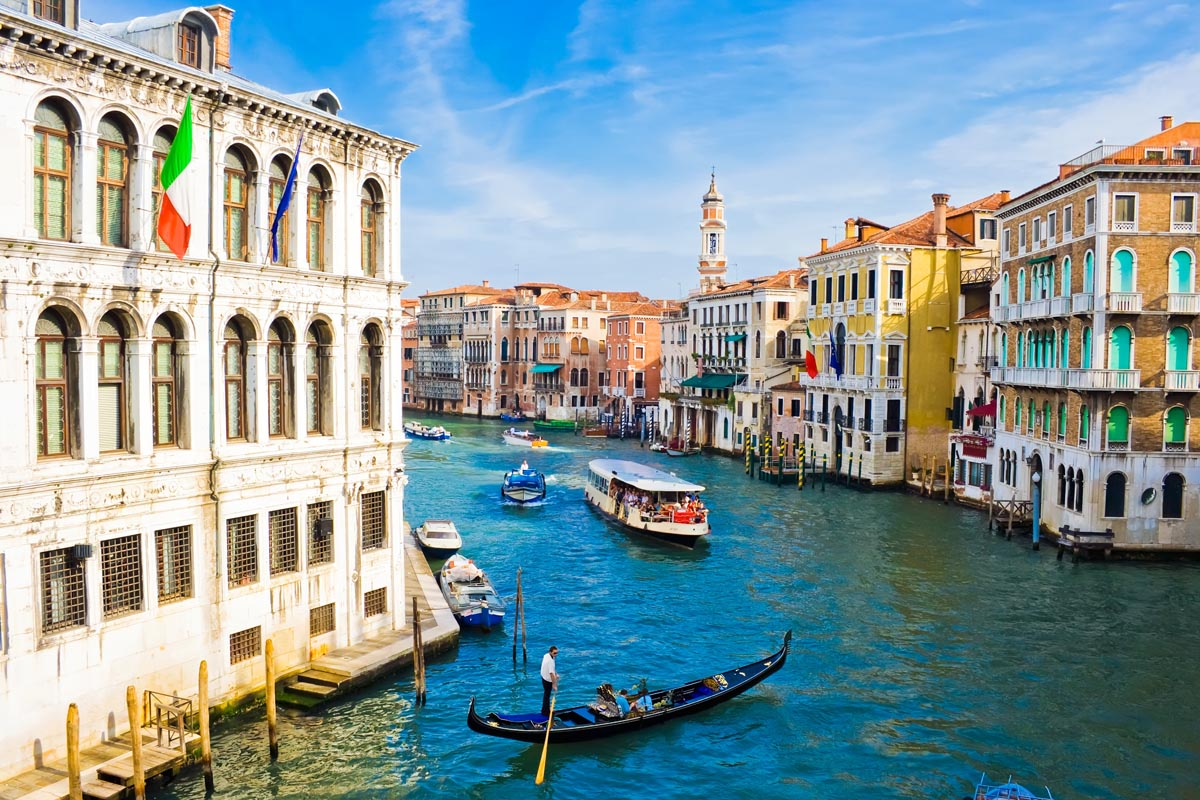 Grand Canal, the most important canal in Venice, Splendors of Italy